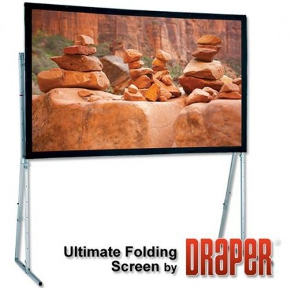 "Draper Ultimate Folding Screen HDTV (9:16) 338/133"" 162*292 MW"