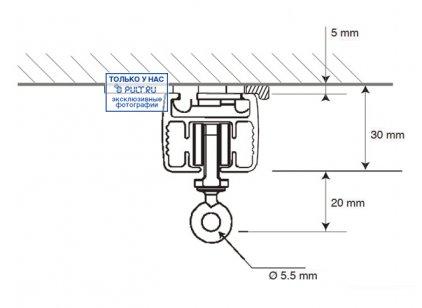 Умные шторы Somfy Карниз с электроприводом Glydea 35 DCT/ WT длина 1 м