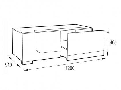 MD 506.1212-B Planima (ящик: черный, фасад: дымчатый,