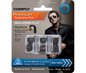 Comply Tx-400 Black Large (3 пары)