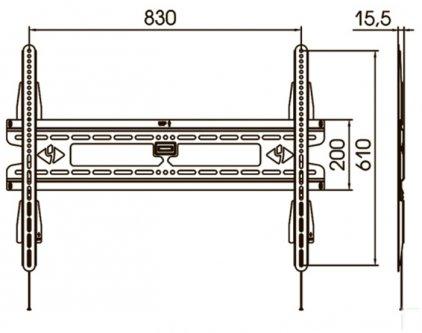 Крепёж для телевизора Kromax Vega-10 grey