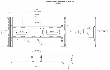 SMS Flatscreen H2 Unislide B (крепление для соединения