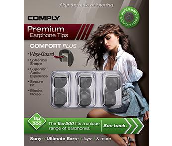 Амбушюры Comply Tsx-200 Black Medium (3 пары)