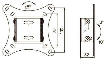 Kromax Vega-6 grey (настенное наклонное крепление для тел