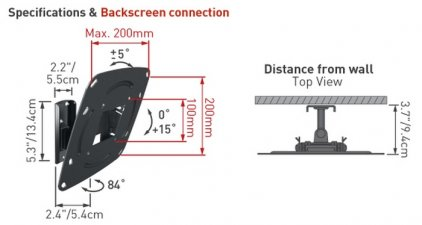 Кронштейн для телевизора Barkan E220.B