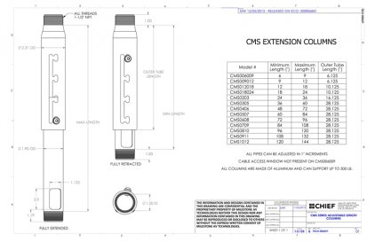 Chief CMS1012s Silver