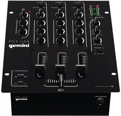 Микшер Gemini PS3-USB DJ