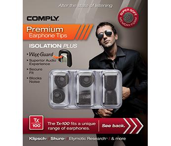 Амбушюры Comply Tx-100 Black Medium (3 пары)