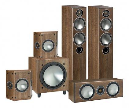 Комплект акустики Monitor Audio Bronze AV 5.1 walnut