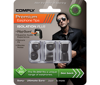 Амбушюры Comply Tx-200 Black Large (3 пары)