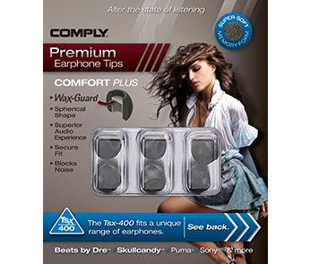 Амбушюры Comply Tsx-400 Black Large (3 пары)
