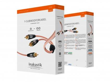 Кабель межблочный In-Akustik Star Audio Cable Y-Sub RCA-2RCA 3.0m #0030823