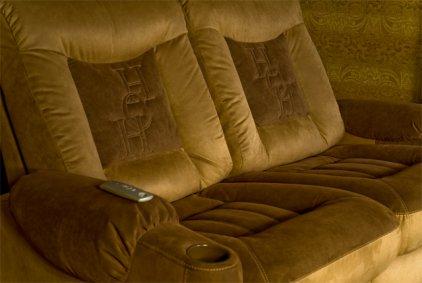 Кресло для домашнего кинотеатра Home Cinema Hall Classic Консоль увеличенная с баром (охлаждающий элемент в комплекте) ALCANTARA/175