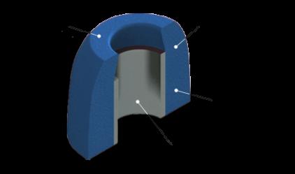 Амбушюры Comply S-400 Blue Medium (3 пары)