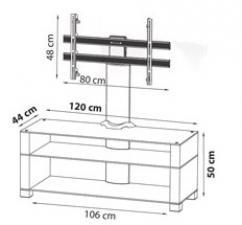 Подставка под ТВ и HI-FI Ultimate WD-3B with bracket teak