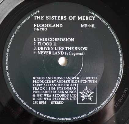 The Sisters of Mercy FLOODLAND (Box set/180 Gram)