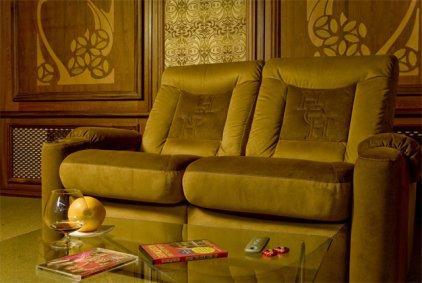 Кресло для домашнего кинотеатра Home Cinema Hall Classic Консоль увеличенная с баром (охлаждающий элемент в комплекте) ALCANTARA/155