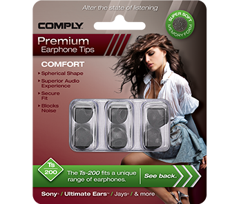 Comply Ts-200 Black Small (3 пары)
