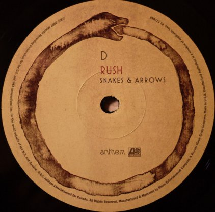 Rush SNAKES & ARROWS (200 Gram/3 sides of audio + 4th side etching)