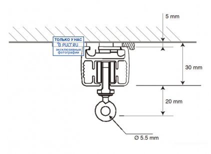 Умные шторы Somfy Карниз с электроприводом Glydea 35 DCT/ WT длина 5 м