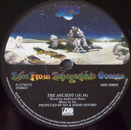 Виниловая пластинка Yes TALES FROM TOPOGRAPHIC OCEANS