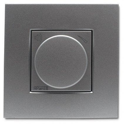 APart N-VOLST-SLV Встраиваемый стереофонический аттенюатор громкости , цвет - серебристый.