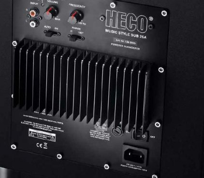 Heco Music Style Sub 25 A black/black