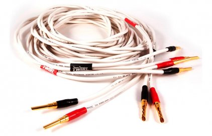Акустический кабель Black Rhodium Twirl 2.0m banan white