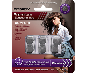 Comply Ts-500 Black Small (3 пары)