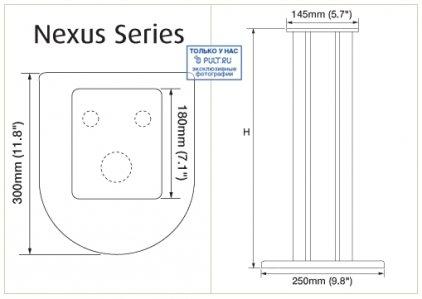 Стойки под акустику Atacama Nexus 5i black