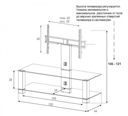 Подставка под телевизор Sonorous PL 2400 C-INX