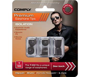 Comply T-100 Black Medium (3 пары)