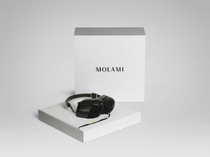 MOLAMI Pleat black on black