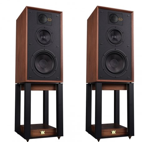 Wharfedale 85th Anniversary Linton with stands Antique Walnut