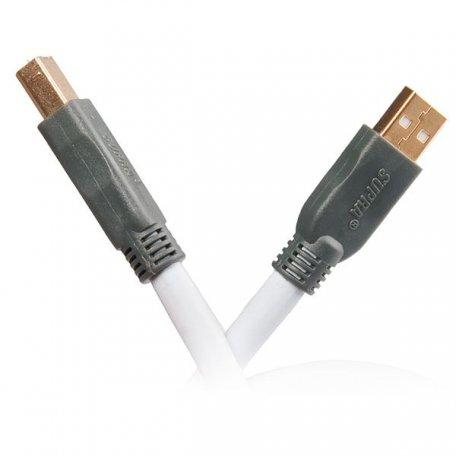 Supra USB 2.0 A-B 0.7m (Ice Blue)