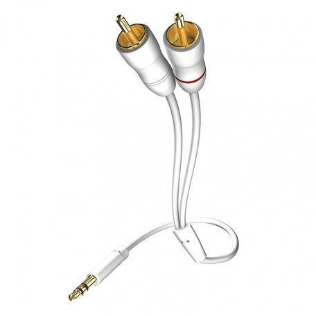 In-Akustik Star MP3 Audio Cable 3.5 Phone <> 2RCA 0.75m 0031000075