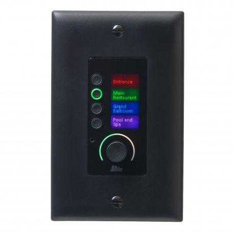 BSS BSS EC-4BV BLK настенная панель управления серии Contrio. Подключение Ethernet, 4 кнопки, регулятор громкости, цвет черный