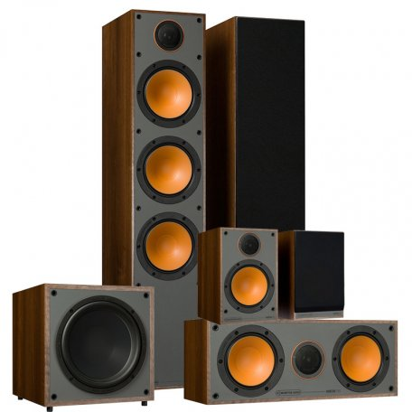 PULT.ru Monitor Set 5.1 Walnut Vinyl (300 + 100 + C150 + W10)
