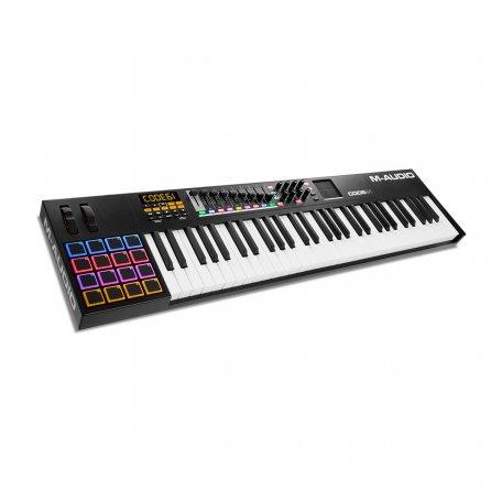 61-клавишная USB MIDI velocity&aftertouch клавиатура M-Audio CODE 61 Black
